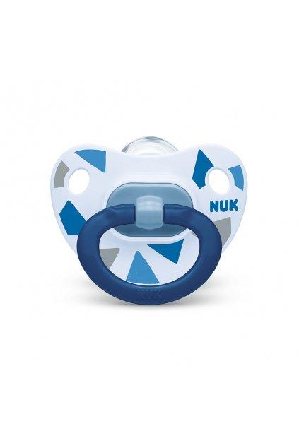 Dojčenský cumlík NUK Happy Days 18 +m modrý BOX