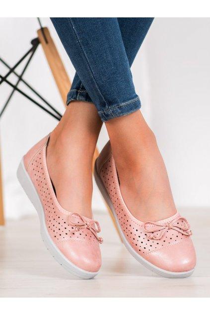 Ružové dámske balerínky Trendi kod 6069P