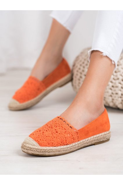 Oranžové dámske poltopánky Small swan kod OM5370OR