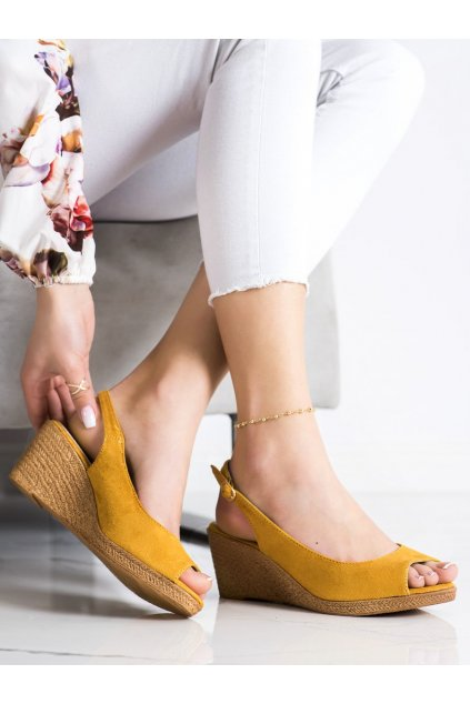 Žlté dámske sandále Goodin kod GD-FL653Y