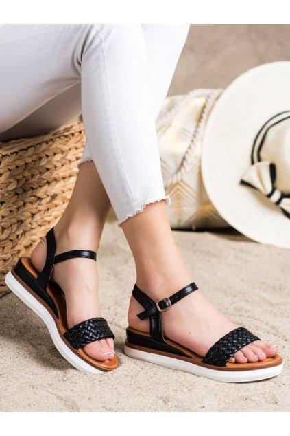 Čierne dámske sandále Trendi kod W982B