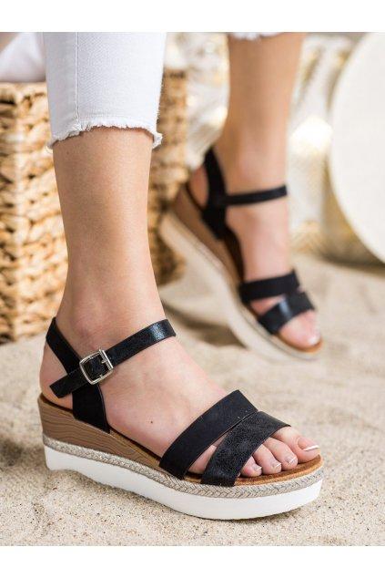Čierne dámske sandále Trendi kod W980B