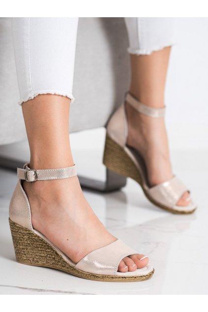 Žlté dámske sandále Filippo kod DS2137/21GO
