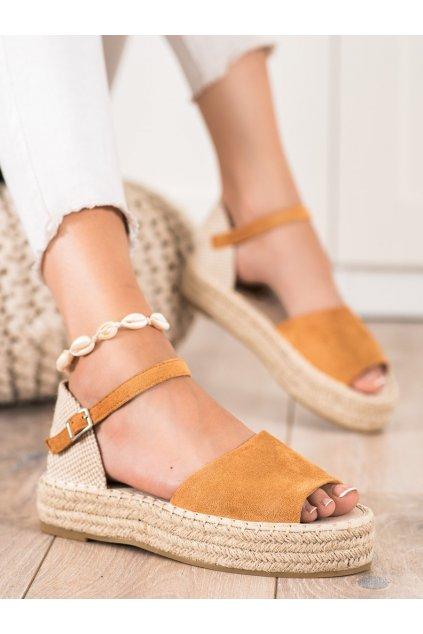 Hnedé dámske sandále Bestelle kod A663C