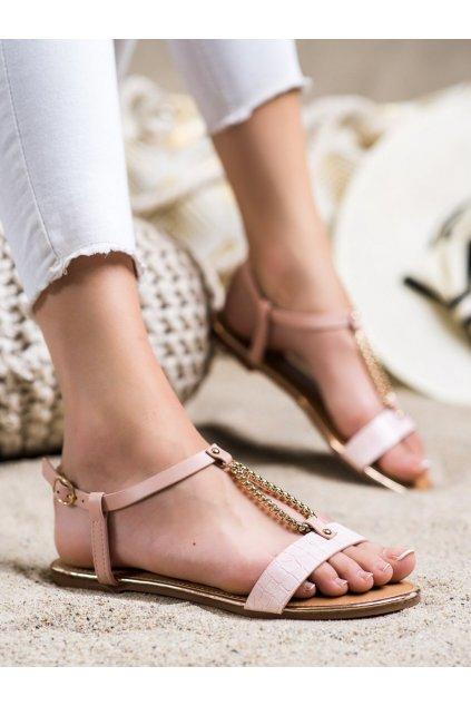 Ružové dámske sandále Laura mode kod F-18P