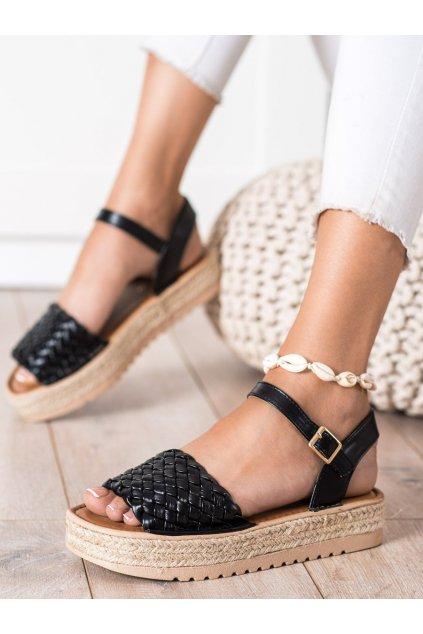 Čierne dámske sandále Trendi kod HM82024B