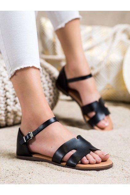 Čierne dámske sandále Ideal shoes kod 7823B