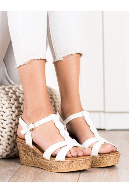 Biele dámske sandále Queentina kod BH2605W