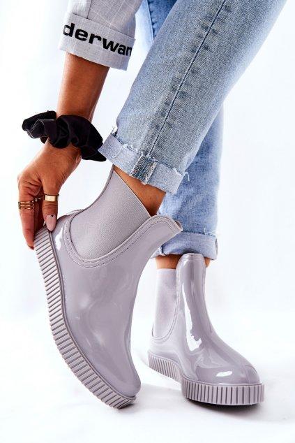 Dámske gumáky farba sivá kód obuvi DC14 GREY
