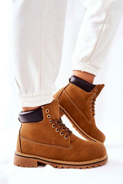 Členkové topánky na podpätku farba hnedá kód obuvi B175-1/C175-1 CAMEL/D.BROWN