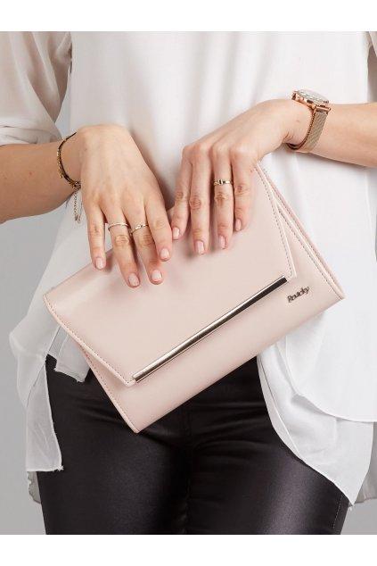 Listová kabelka svetlo-ružová kód W52Skaj20