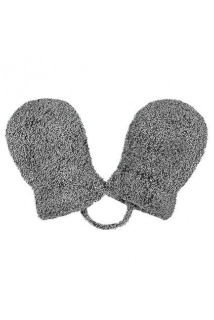 Detské zimné rukavičky New Baby so šnúrkou sivé