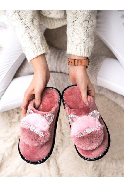 Ružové dámske topánky na doma Bona kod XC-2PU