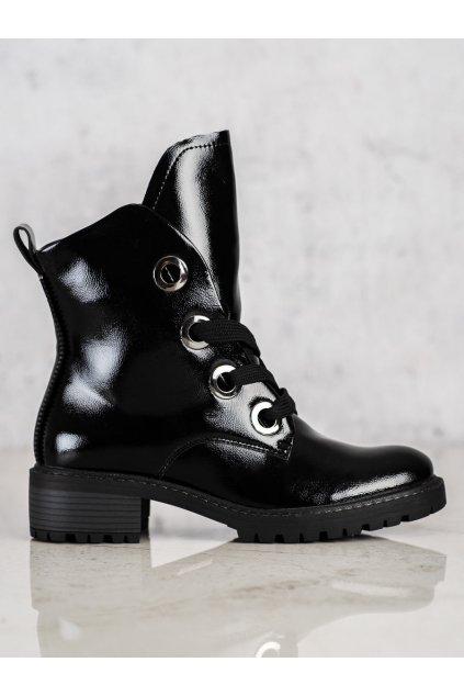 Čierne dámske topánky Vinceza kod XY22-10660B