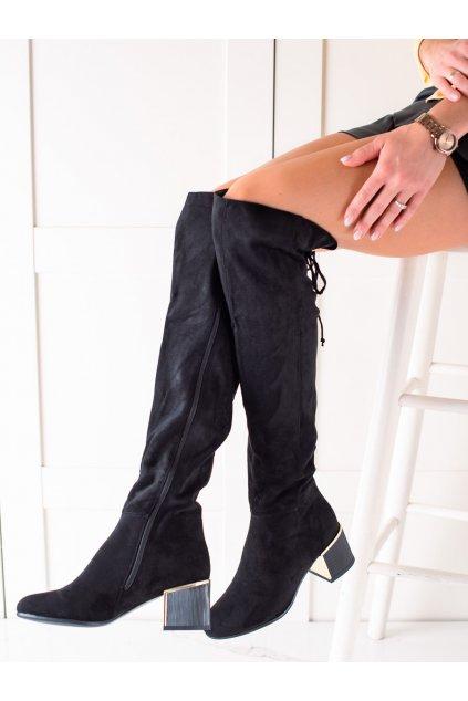 Čierne dámske čižmy Goodin kod GD-FL3002B