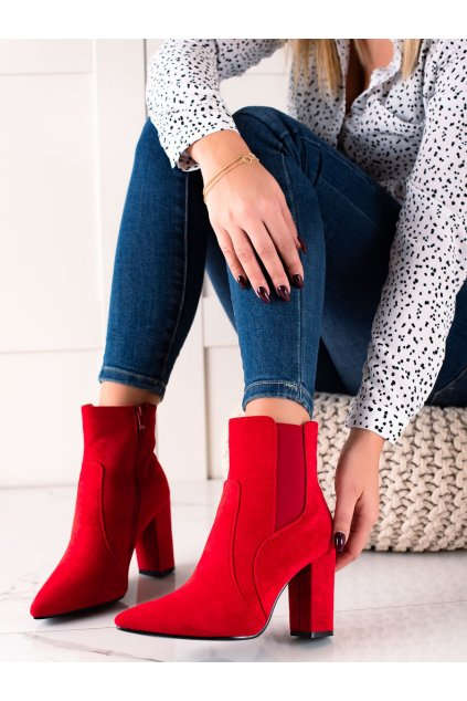 Červené dámske topánky Marquiz kod TX-1847R