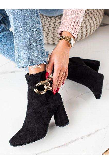 Čierne dámske topánky Trendi kod 100-191B