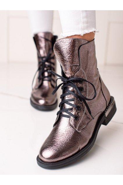 Sivé dámske topánky W. potocki kod 21-60004PLA