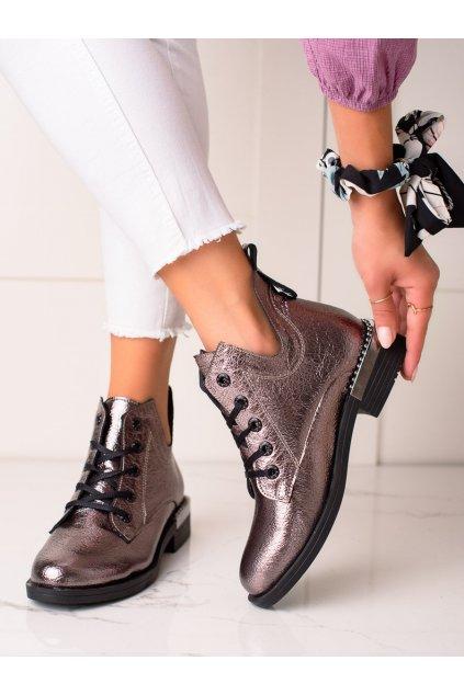 Sivé dámske topánky W. potocki kod 21-60003PLA