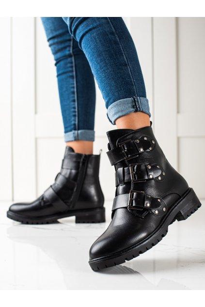 Čierne dámske topánky Sixth sense kod C657B