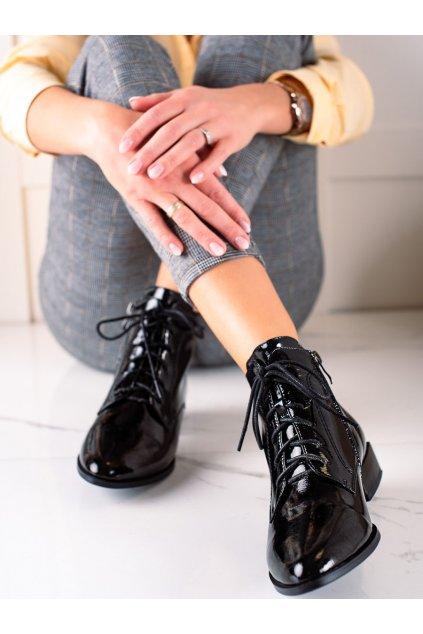Čierne dámske topánky Artiker kod