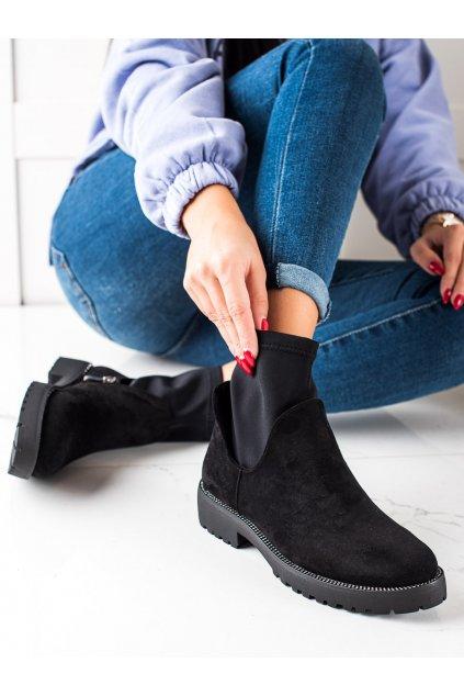 Čierne dámske topánky Bella star kod