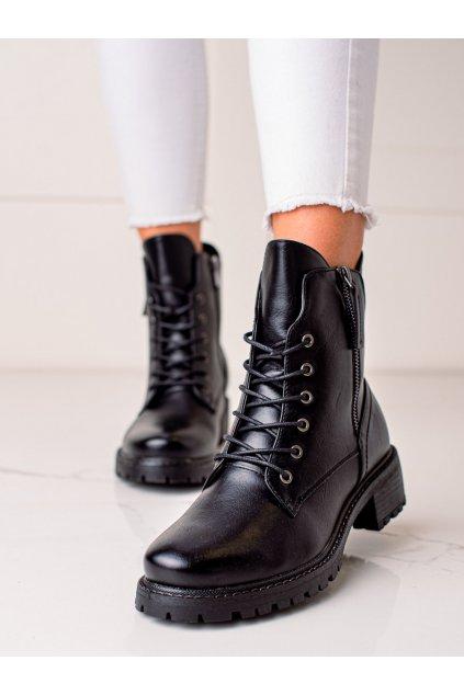 Čierne dámske topánky W. potocki kod 21-12002B