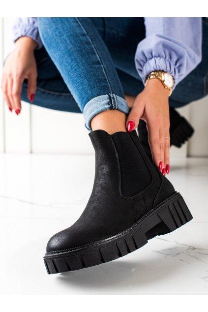 Čierne dámske topánky Sergio leone kod TR761B