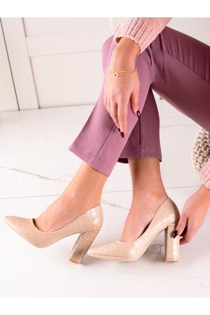 Hnedé dámske lodičky Sweet shoes kod LY9182BE