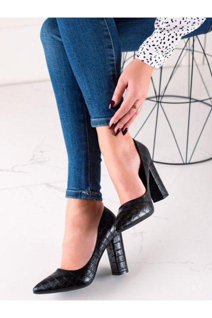 Čierne dámske lodičky Sweet shoes kod