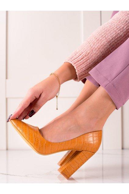 Žlté dámske lodičky Sweet shoes kod LY9182C
