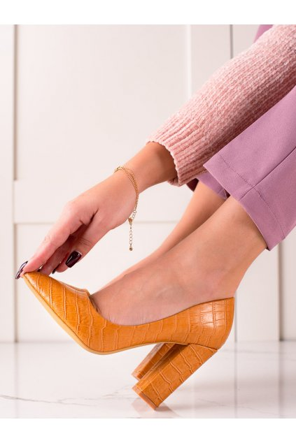 Žlté dámske lodičky Sweet shoes kod