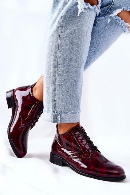 Dámske poltopánky farba čierna kód obuvi 4127 BORDO MOZ.