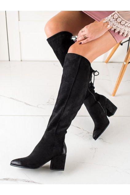 Čierne dámske čižmy Vinceza kod XY22-10623B