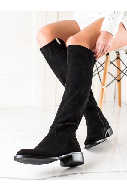 Čierne dámske čižmy Goodin kod GD-FL3011B