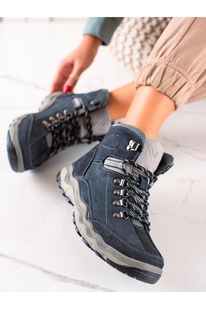Fialové dámske trekové topánky New age kod BD15777N