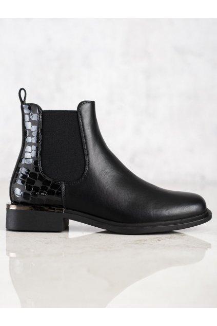 Čierne dámske topánky Sergio leone kod BT430B/B
