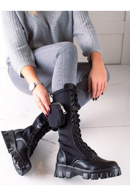 Čierne dámske topánky Trendi kod GF208B