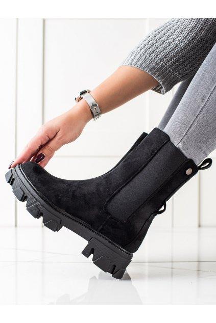 Čierne dámske topánky Sweet shoes kod D7867B