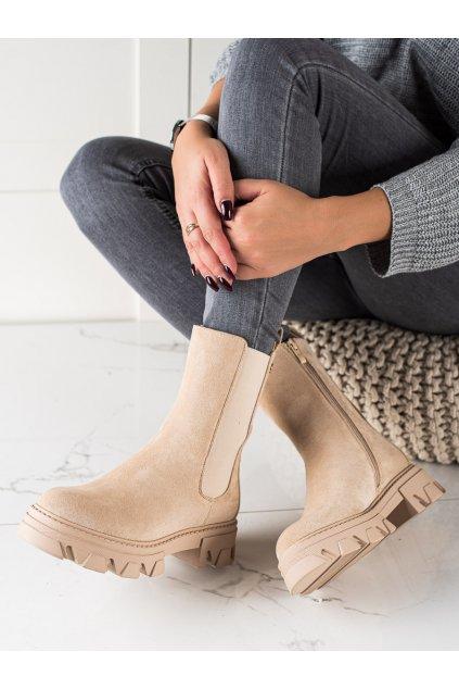 Hnedé dámske topánky Sweet shoes kod D7867BE