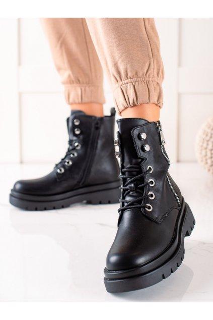 Čierne dámske topánky Sixth sense kod C776B