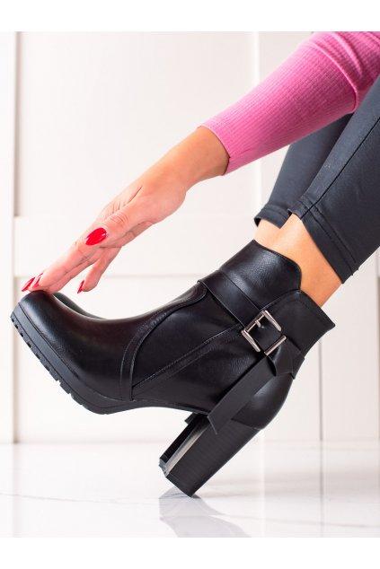 Čierne dámske topánky Trendi kod S1AX8107-30B