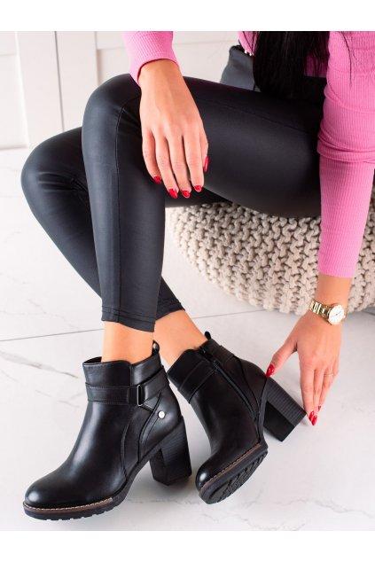 Čierne dámske topánky Trendi kod VRO-155B