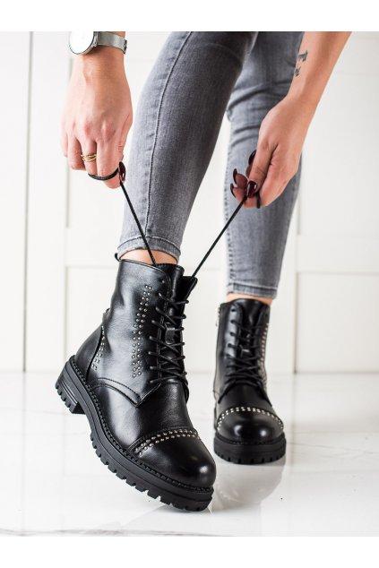 Čierne dámske topánky Super me kod 8356B