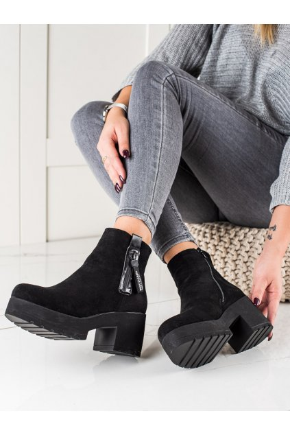 Čierne dámske topánky Ideal shoes kod TX-1858B