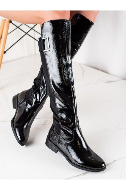 Čierne dámske čižmy Trendi kod F5850B