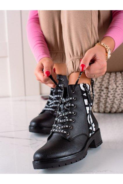 Čierne dámske topánky W. potocki kod
