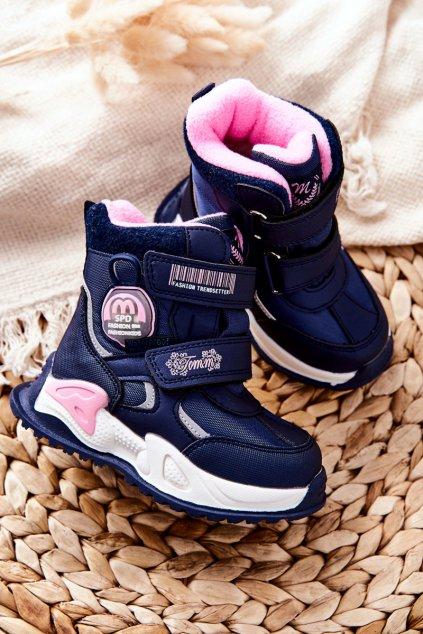 Detské členkové topánky farba modrá kód obuvi C-T9527-B D-BLUE