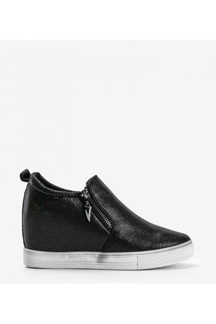 Dámske topánky tenisky čierne NJSK DD383-4 - GM