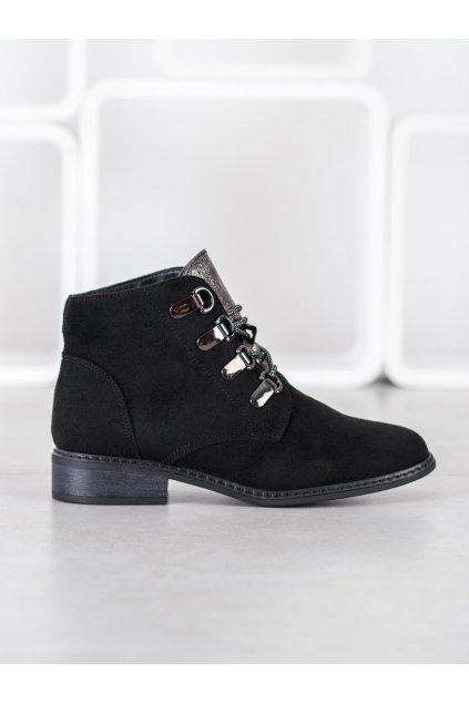 Čierne dámske topánky Goodin NJSK HF220B